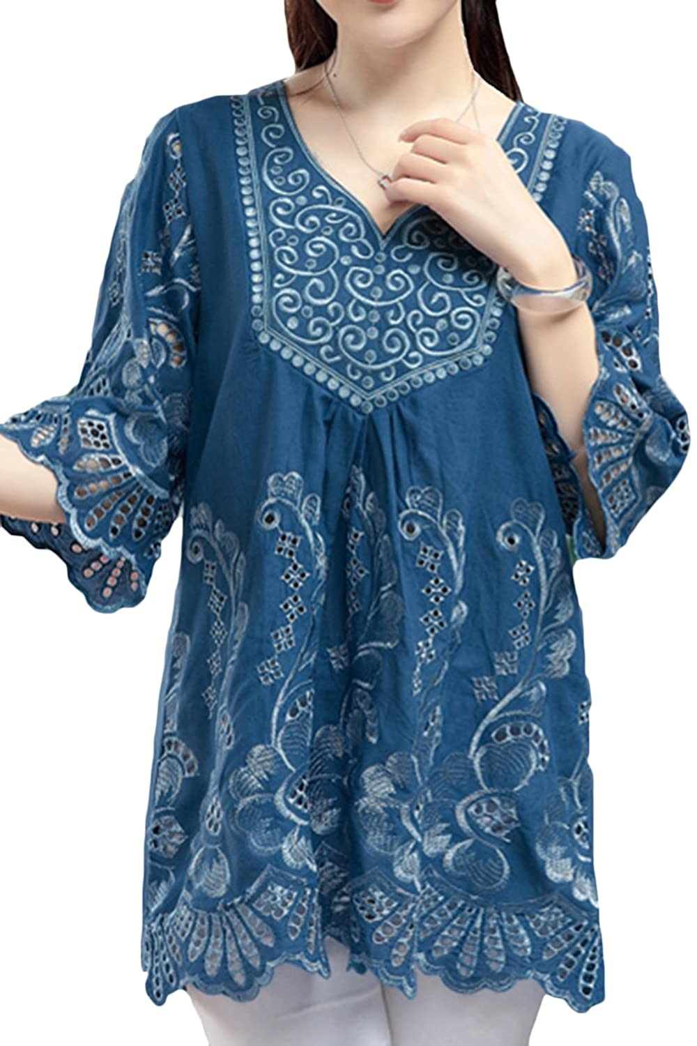 77882fb36af Material:Cotton linen. The linen tunics are Soft,Lightweight and  Comfortable. Package Content: 1 x Women top. Thin and cool,good for Summer ,Autumn,Spring.