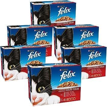 Felix émincés en jalea repas para gato adulto Saveur & talla diferentes, 12 x 100 g, Pack de 6: Amazon.es: Productos para mascotas