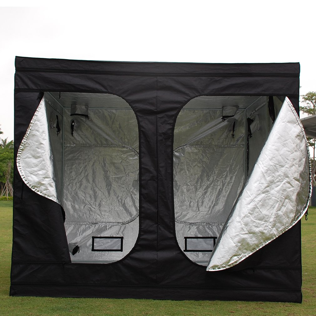 TataYang Hydroponic Grow Tent Grow Room Premium Garden Greenhouses Universal Durable 240x240x200 CM Black