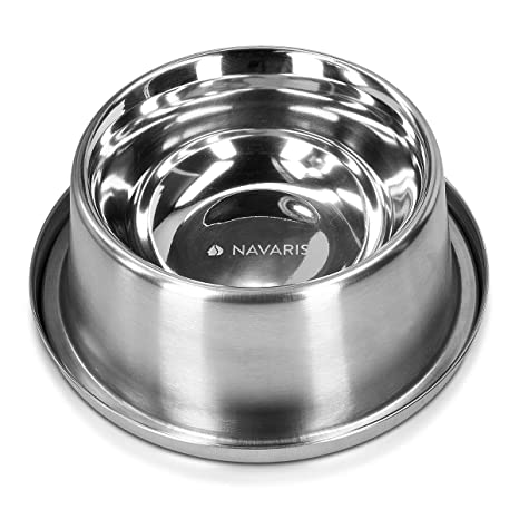 Navaris Comedero Enfriador de Acero Inoxidable - Cuenco ...