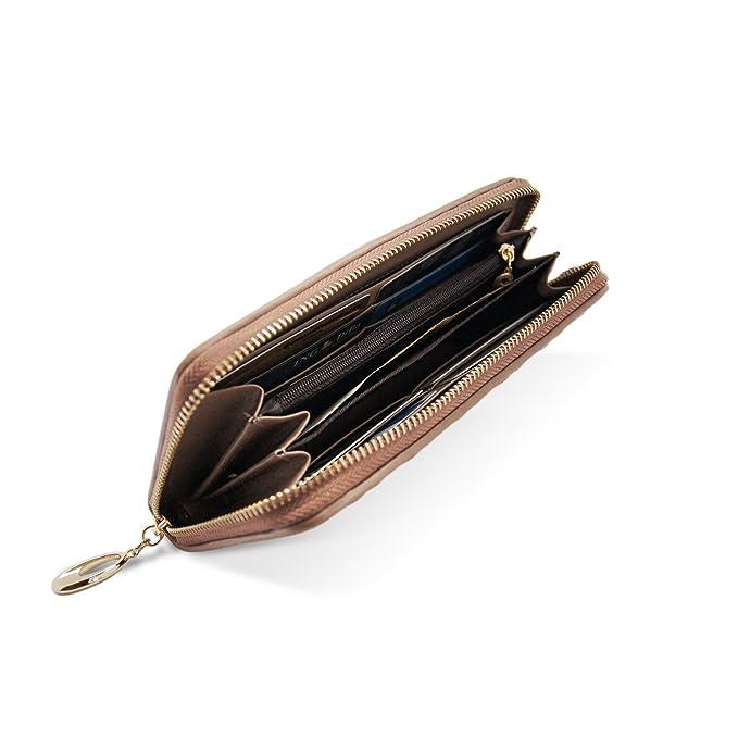 WalletAddict- Modelo Paris | Billetera para Mujeres Cuero Genuino | Elegante Cartera de Moda Uso Diario o Accesorio de Fiesta | Bolsa Grande para la Mujer ...