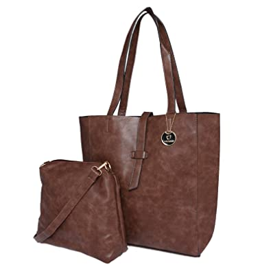 9005fad83c58 Image Unavailable. Image not available for. Colour  Fur Jaden Brown Tote  Handbag for Women with Sling Bag Combo