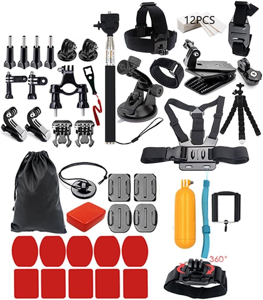 إكسسوارات كاميرا 44 في 1 من KKmoon أدوات كاميرا لكاميرات التصوير في الهواء الطلق أداة حماية لـ Gopro Hero 5 4 3 2 1 SJCAM SJ4000 SJ5000 SJ600 SJ700 EKEN H9R H8W