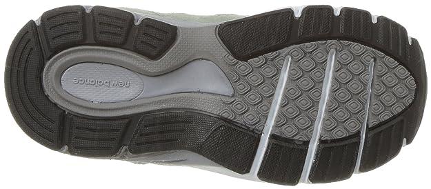 New Balance Girls' 990v4 Sneaker, Silver MinkWhite, 2 W US