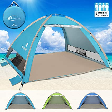 Outdoor Awning Outdoor Beach Tent Outdoor Tent Portable Beach Tent Foldable Automatic Quick-Opening Tent Anti-Ultraviolet Pop-up Camping Tent