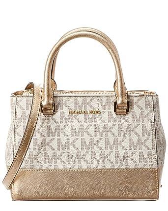 b8bc8eafadbd6 Amazon.com  Michael Kors Kellen Xs Leather Satchel  Clothing