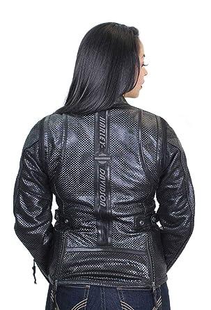 803464c75eae Amazon.com  Harley-Davidson Womens Venos Perforated 3-in-1 Leather Jacket  97010-18VW  Clothing