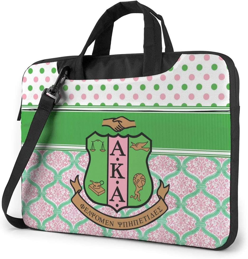 13-15.6 Inch Laptop Sleeve Case Alpha Kappa Alpha Laptop Shoulder Bag with Strap Compatible