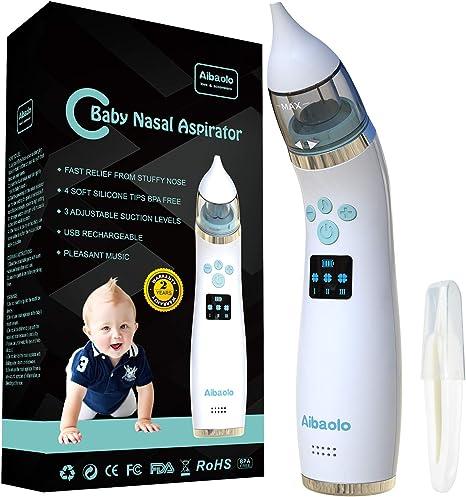 Aspirador Nasal Eléctrico Recargable USB para Bebés - Limpiador de ...