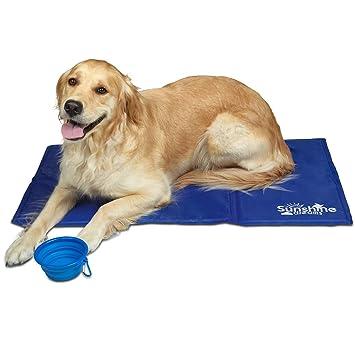 Estera De Enfriamiento (Azul) Para Perros De Sunshine Dreams | Almohadilla De Enfriamiento Tamaño