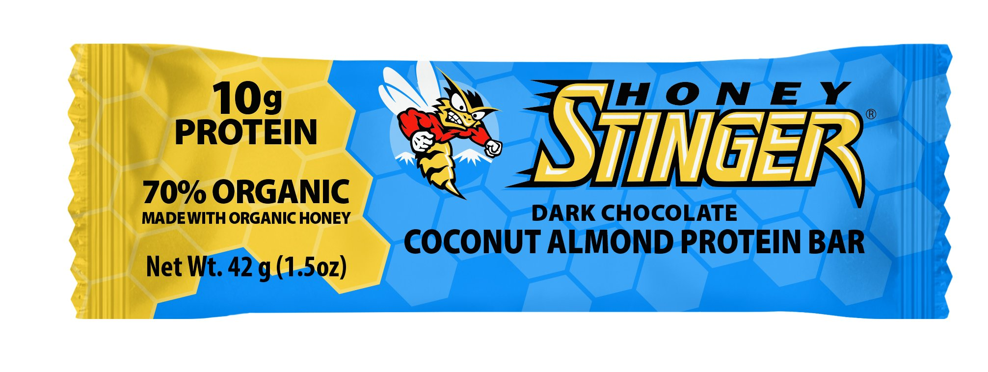 Honey Stinger Protein Bar, Dark Chocolate Coconut Almond, 1.5 Ounce (Pack of 15)