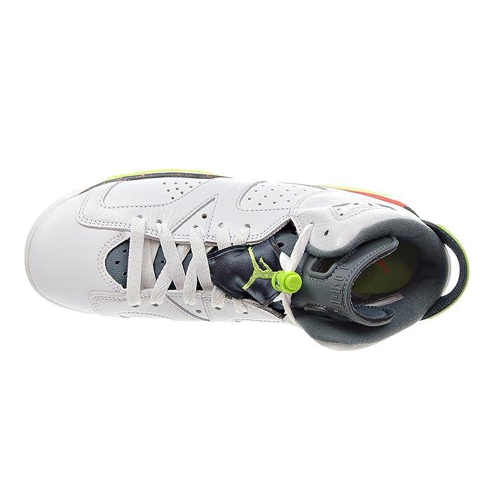 ddcb718ed69 Amazon.com | Jordan Air 6 Retro BG Big Kid's Shoes White/Ghost Green/Hasta/Bright  Mango 384665-114 (4.5 M US) | Basketball