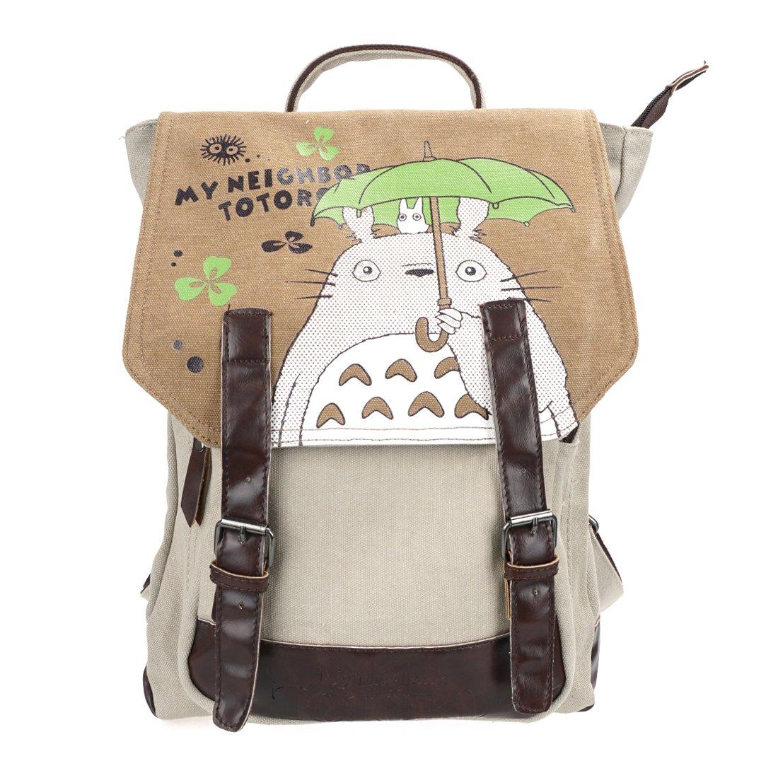 CoolChange Mochila de Lino de Totoro con Compartimiento Interior Espacioso
