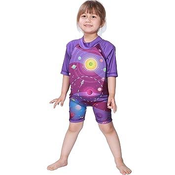 Megartico - Traje de baño para niños con Flotador, Infantil, Color Morado, tamaño 4-6: Amazon.es: Deportes y aire libre