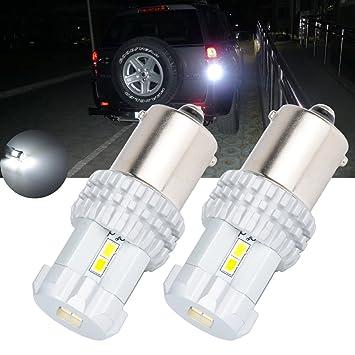 TUINCYN BAU15S Bombilla LED Blanco Super Brillante 7507 PY21W 12496 5009 7507AST LED Reemplazo 24W 12SMD