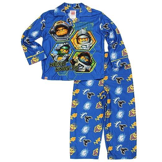 LEGO Nexo Knights Little Boys Flannel Coat Style Pajamas (4-5, Nexo Blue