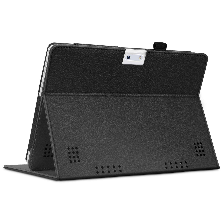 Qimaoo 10.1 Noir SUMTAB 10 FINTIE Coque /Étui pour YOTOPT 10.1 Tagital 10.1 Multi-Angle Housse de Protection Case Cover pour BEISTA 10.1 SANNUO 10.1 YUNTAB K17 // K107 10.1 Tablette