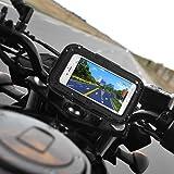 """Rupse 5 """"a prueba de agua 360 motocicleta moto moto bolsa con soporte de montaje para dispositivos de navegación GPS por satélite"""