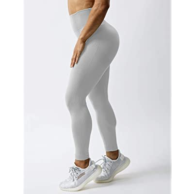 QOQ Womens High Waisted Seamless Workout Leggings Butt Lifting Gym Yoga Pants Booty Scrunch Vital Tummy Control Ruched Tights