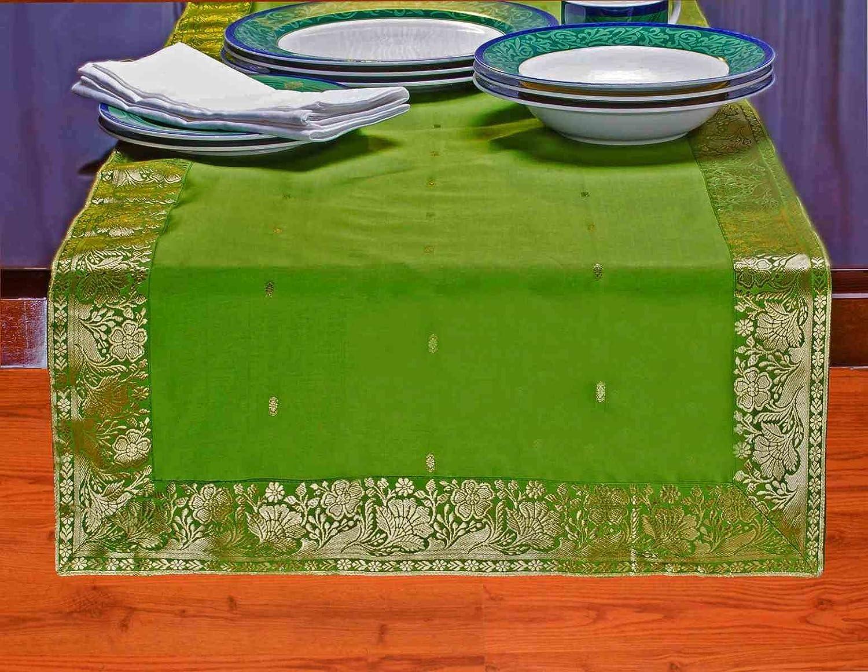 フォレストグリーン – Hand Craftedテーブルランナー(インド) 18 X 108 Inches TR18108FG 18 X 108 Inches  B00D6I4Z4U