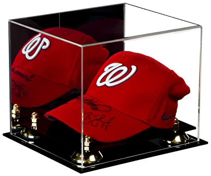 b0311109381 Deluxe Acrylic Display Case for Collectible Sports Baseball Hat or Cap with UV  Protection with Mirror (A006)