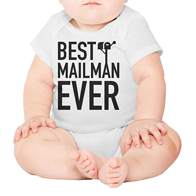 WSEDRF Best Mailman Ever Short Sleeve Baby Onesies Girl