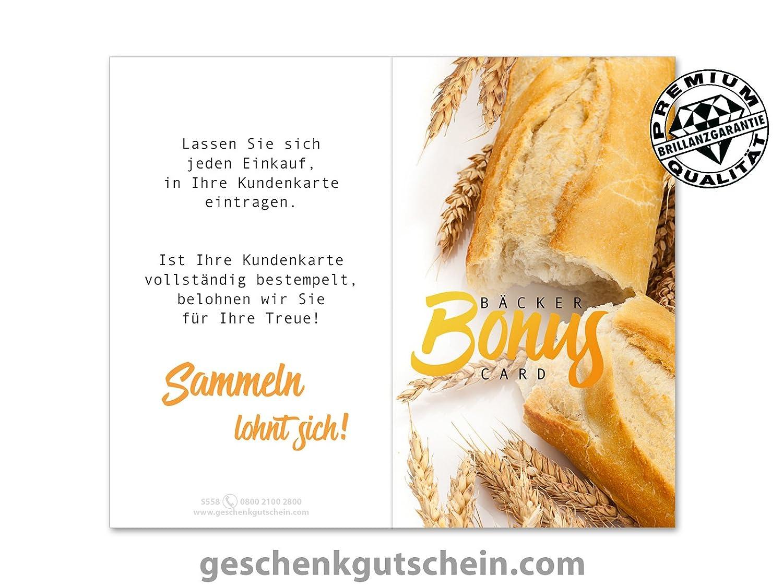 100 Stk. Stk. Stk. Kundenkarten für Bäckereien, Backstuben, Konditoreien S558 B076SVJMWF   Elegantes und robustes Menü  284abb