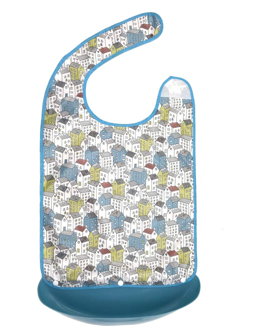 SWC Store Adult Bib with Crumb Catcher - Large Size Adult Feeding Aid Easy to Clean for Patient Old People