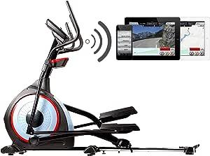 Body Coach - Entrenador elíptico profesional, con tracción delantera, bicicleta elíptica 28280BG, con Bluetooth + aplicación de entrenamiento, mapas con rutas de trote I cinturón pulsómetro, USB, MP3,factor Q de 7,8cm, peso oscilante aprox. 15kg, hasta 150kg de peso corporal