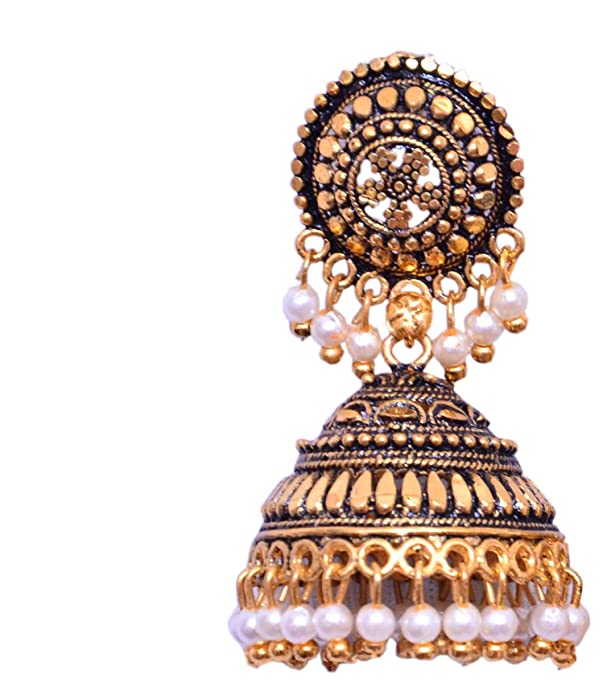 964ffda93 Buy New Arrival Cute Gold plated Mini Umbrella With Black Beads India  Jhumki Jhumka Online at Low Prices in India | Amazon Jewellery Store -  Amazon.in