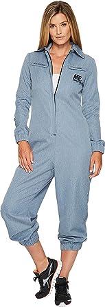 cb55ac5b3f1 Amazon.com  Reebok Women s Me Jumpsuit Brave Blue Jumpsuit  Clothing