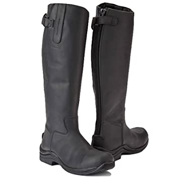 53e044b8c3c Toggi Calgary Long Leather Riding Boot With Full Zip