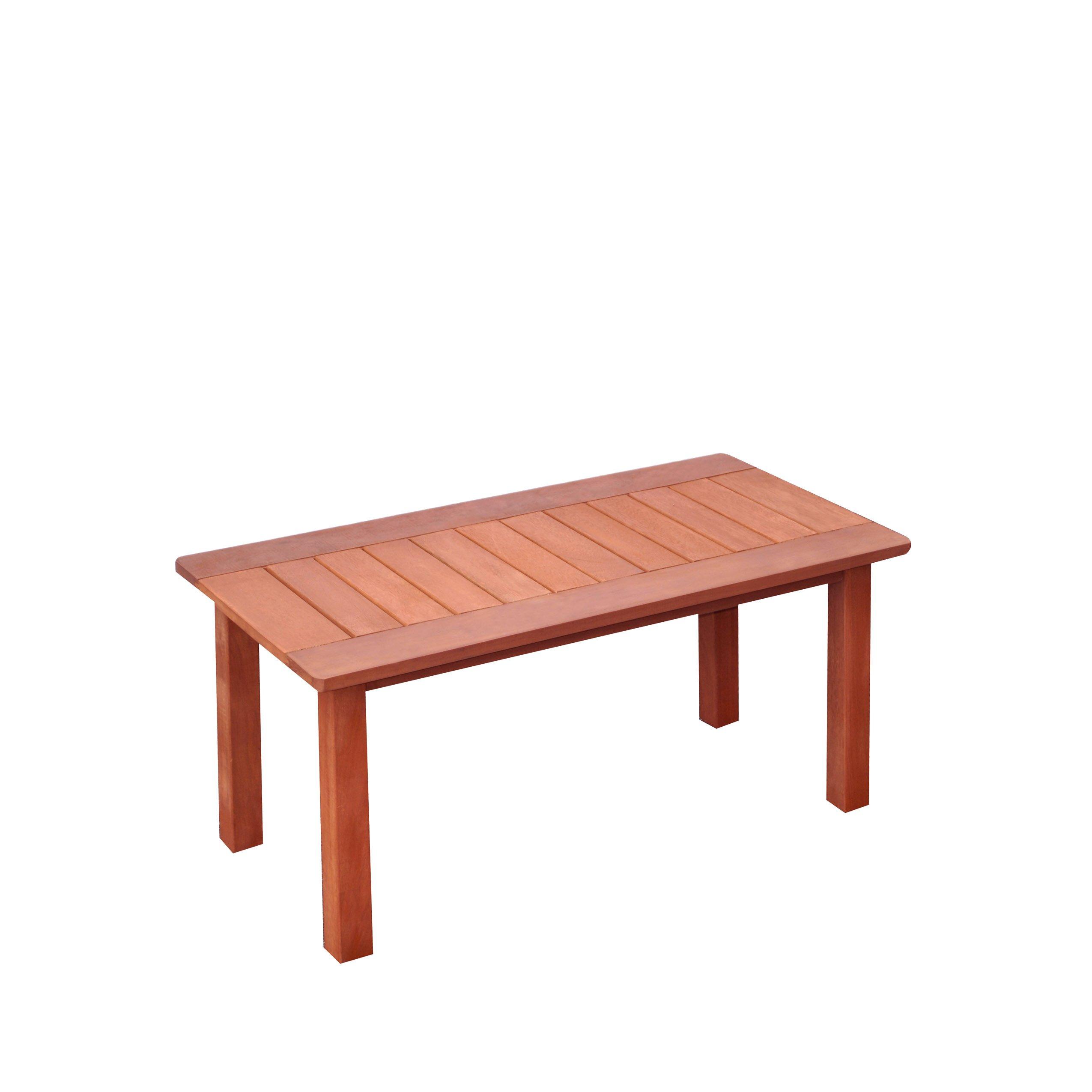 CorLiving PEX-868-T Miramar Hardwood Outdoor Coffee Table, Cinnamon Brown