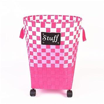 Pink Plastic Laundry Basket Simple Amazon Lqchl Laundry Basket Woven Plastic Laundry Baskets