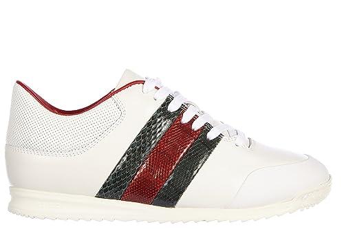 Gucci Zapatos Zapatillas de Deporte Mujer en Piel Nuevo Miro Soft Moorea Blanco EU 40 370499 AYOK0 9069: Amazon.es: Zapatos y complementos