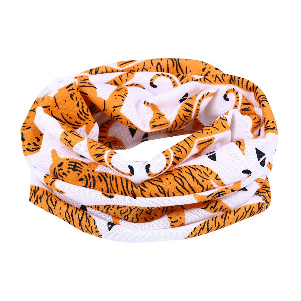 Baby Bandana Scarves Soft Cotton Circle Scarf Lonshell Toddler Boys Girls O Ring Collar Neck Neckerchief Keep Warmer Infinity Loop Scarves Snood