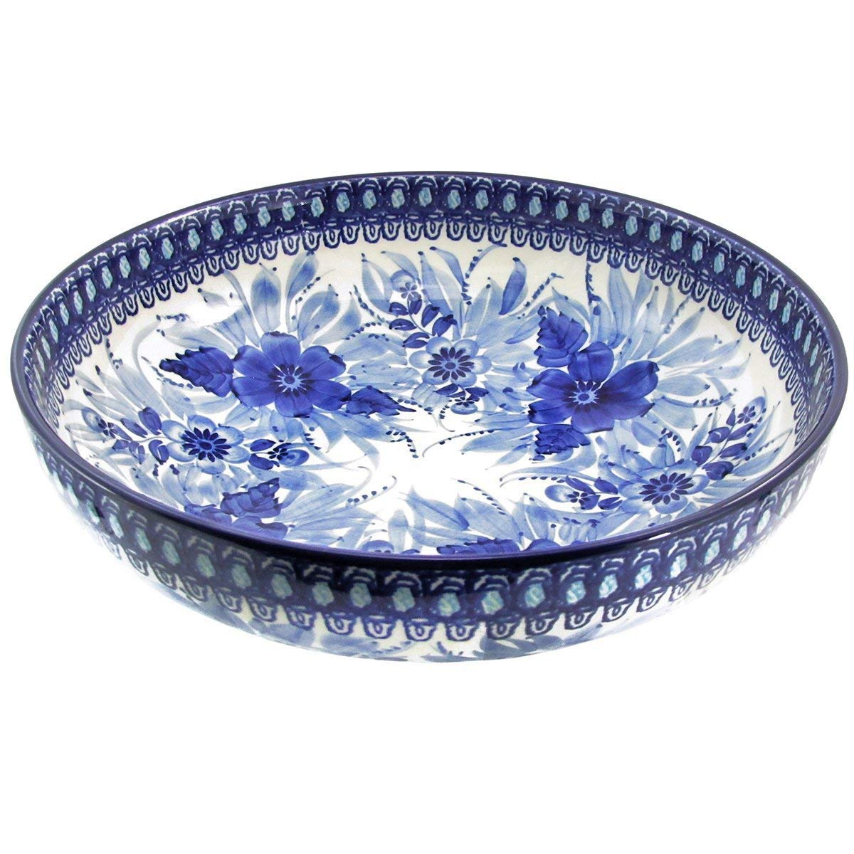 Polish Pottery Handmade Vintage Unikat 10.5'' 2 QT SERVING BOWL - U214 by Great2bHome Polish Pottery and Unique Gifts (Image #1)