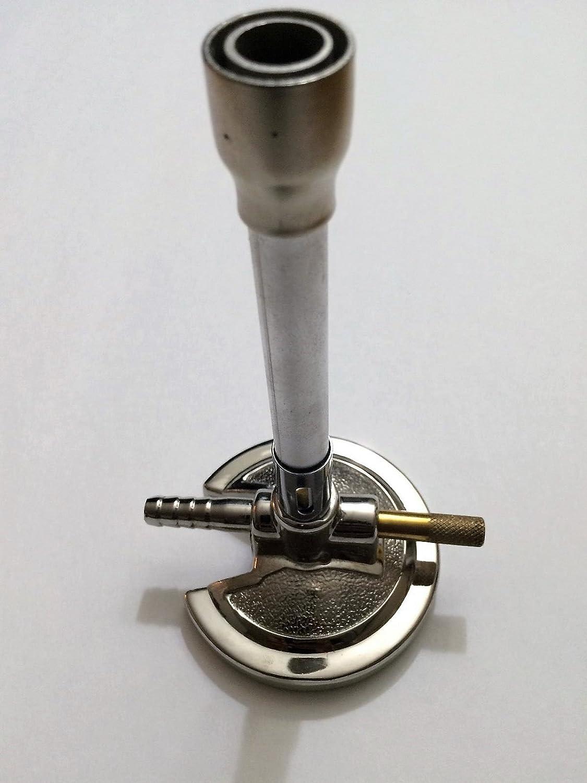 Lab Bunsen Burner with ROTATABLE AIR REGULATOR - Liquid Propane & Bottled Gas Generic