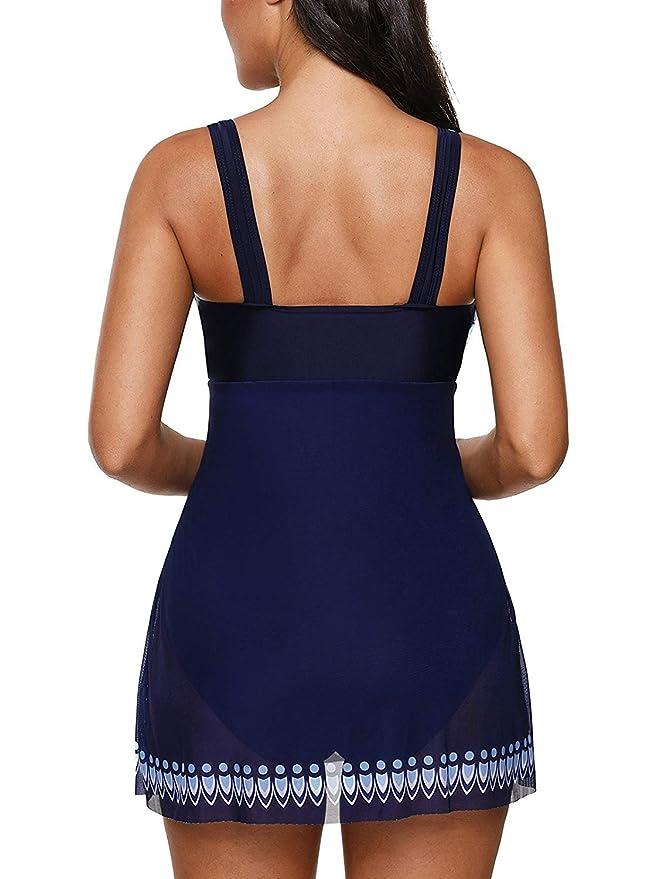 Amazon.com: Zando Vestido de baño de una pieza para mujer ...