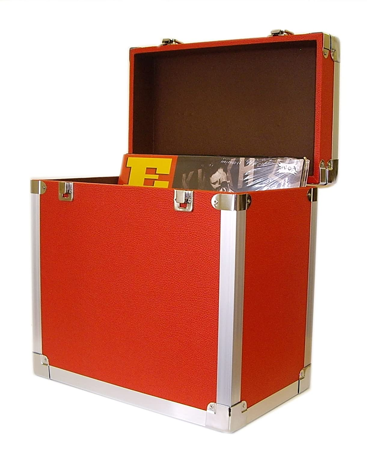 Steepletone SRB 12 Inch LP Storage Case   Red: Amazon.co.uk: Audio U0026 HiFi
