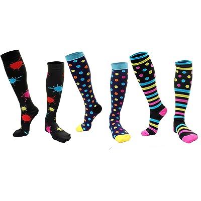 (3 Pairs) Longwu Compression Socks Men & Women (20-30 mmHg) at Amazon Women's Clothing store