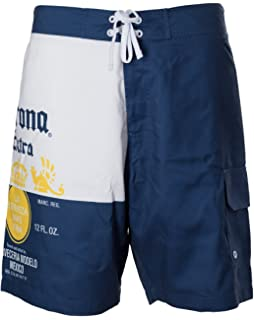 8ab03c8c9a Amazon.com: Corona Extra Label Mens Swim Board Shorts (XX-Large ...
