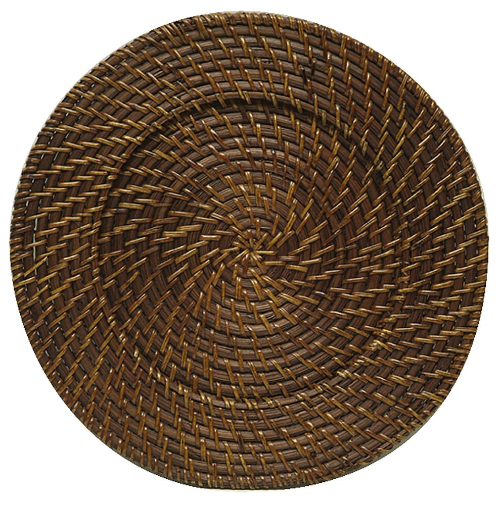 Jay Imports Round Rattan Charger Set Of 4