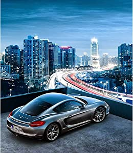 DIY 5D Full Drill Diamond Painting Kits for Adults Kids, Crystal Rhinestone Diamond Embroidery Paintings Arts Craft Home Wall Decor (Porsche, 11.8 x 15.8 Inch)