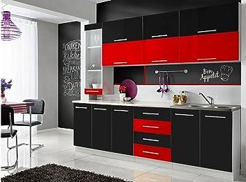 Komplette Küche MONI S 260 cm verschiedene Farbkombinationen ...