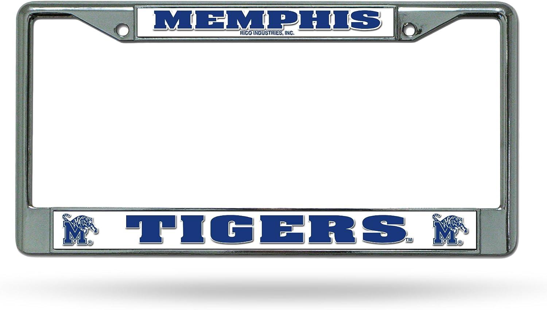12 x 6 Rico Industries NCAA Sam Houston State Bearkats Standard Chrome License Plate Frame Silver