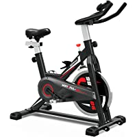 Deals on YONKFUL Exercise Bike Belt Drive Indoor Cycling Bike