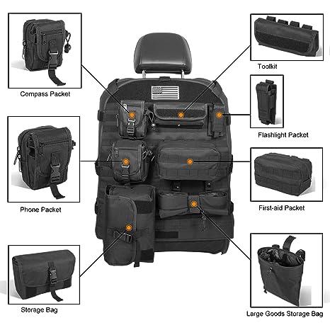 Amazon.com: Opall - Funda para asiento delantero con bolsas ...