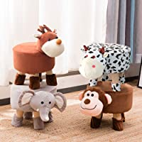 baobe Washable Animal Ottoman, Kids Footrest Stool, Animal Shoe Change Stool Cartoon Chair Gifts for Kids