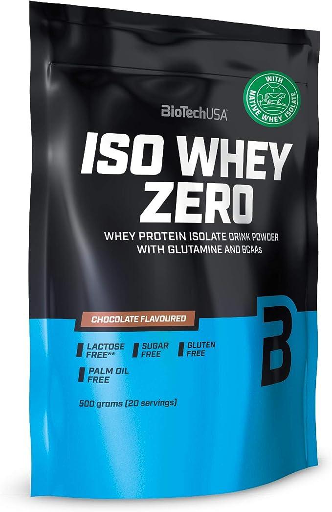 BioTechUSA Iso Whey ZERO, Lactose, Gluten, Sugar FREE, Whey Protein Isolate, 500 g, Chocolate